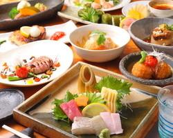 季節の食材本来の味を追求 ご宴会コースあります