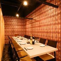 天王寺の夜景が見られるカップル席や、個室等様々な席をご用意