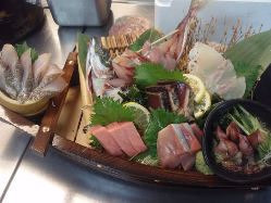 365日毎日新鮮な魚がお店に来ます。