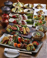 多くの絶品料理を少しずつ堪能!こだわりのコース料理3,000円~