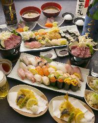 約35種の寿司が食べ放題!贅沢すぎる会席コースをご堪能あれ!
