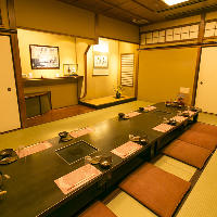 【座敷でご宴会】 落ち着く和室(個室)は大小ございます