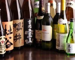 ワイン・焼酎等各種お飲み物も取り揃えております