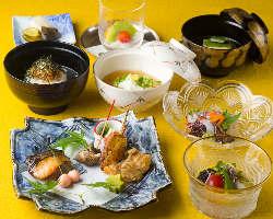 京都観光のご休憩に、ランチ会席コースで贅沢なひとときを