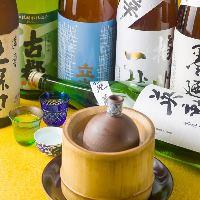 京都の地酒や全国各地より厳選する日本酒を揃えております