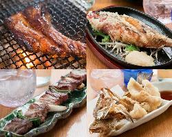 あぐー豚、沖縄県魚など、沖縄食材をたっぷり楽しめます