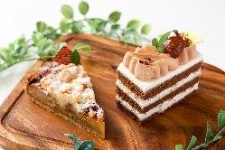 専属のパティシエによる 癒しのケーキは絶品!