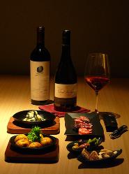 京風たこ焼きをワインでお楽しみください。