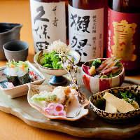 日本各地より厳選し仕入れる地酒×旬味溢れる一皿を気軽に堪能!