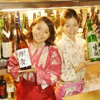 日本酒好きな「日本酒女子」が笑顔とお酒をお酌します♪♪
