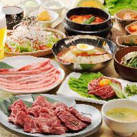 冷麺やビビンバ、チヂミにデザートまで!豊富な食べ放題メニュー