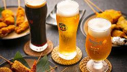飲み放題のビールもプレモル!生・黒生・香るエール3種飲めます