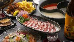海鮮とお肉が楽しめる贅沢コースです。
