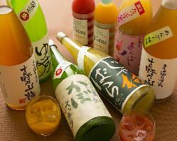 飲み放題のグレードUPで、果実酒や日本酒の追加もOK!