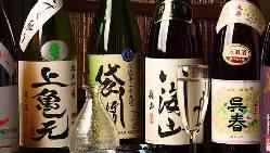 厳選した各地の日本酒を取り揃えております。