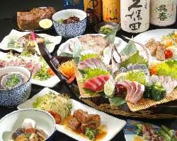 ボリュームたっぷりの絶品宴会コースは飲み放題付4000円~!