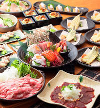 豪華料理9品の宴会コース♪縁コース(飲み放題付き5200円)
