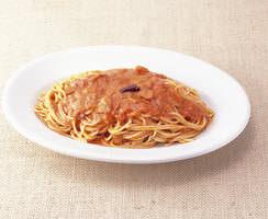 カプチョ1番人気のトマトと ニンニクのスパゲティー♪