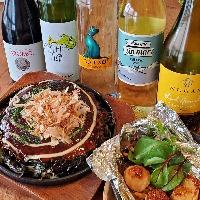 鉄板焼きとワインのいろんな組合せお楽しみください!