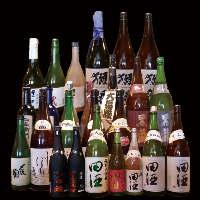 利き酒師の資格を持つスタッフがこだわった日本酒を多数ご用意
