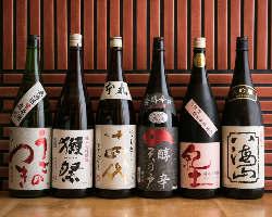 【日本酒・ワイン】 獺祭、十四代他多数!ワインセラー完備◎