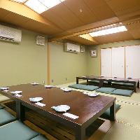 【掘りごたつ個室】 ゆったり寛げる純和風の掘りごたつ席を完備