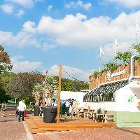 公園内の緑あふれる開放的なレストラン!