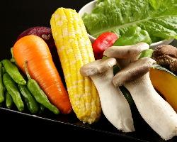 日々変わる新鮮な野菜を使用しております。