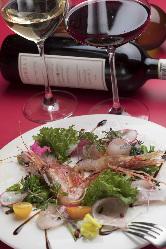 本日の前菜。ついついワインが進みます。
