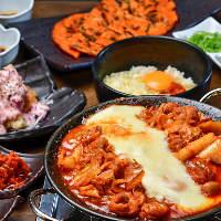 本場韓国の味を満喫♪とろ~りチーズダッカルビコース3,980円~