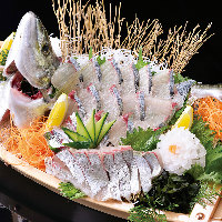 釣った魚は店内で調理♪1度釣った魚のリリースは禁止です!