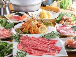70品しゃぶしゃぶ食べ放題♪お寿司・串カツ・アラカルトも。