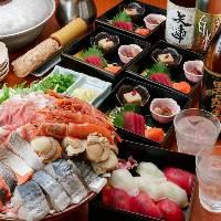 【寄せ鍋コース】造り・寿司・飲み放題がついて3980円ポッキリ