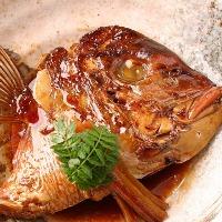 定番の鯛のアラ炊き 限定数、早い者勝ち!
