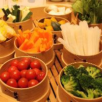 野菜をたっぷり食べられるビュッフェ♪