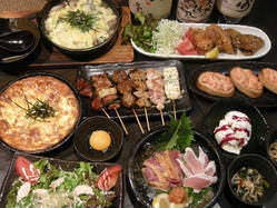 コース料理の一例 飲み放題付き 3800円~ご用意!