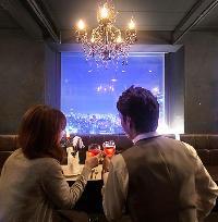 個室を含む全席が夜景を臨む特等席♪特別な日のお食事にぜひ