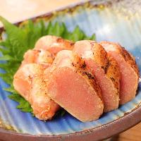 焼酎や地酒・日本酒に合う明太子を美味しく炙ってご提供!