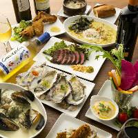 おすすめの牡蠣料理だけでなく 肉や野菜を使った逸品も豊富