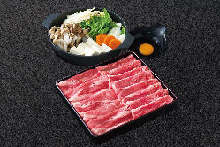 国産牛すき焼き鍋は単品でもコースでもご利用頂けます。
