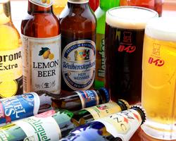 ドリンクの種類が豊富 世界のビールやワイン、焼酎も!