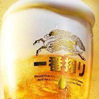 定番のビールや多彩なカクテルなど、アルコールも豊富にご用意