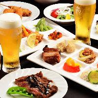 ミートプレートを含むお料理を楽しめる大人気ビュッフェ!