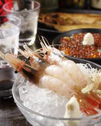 ◆釧路産 特大ボタンエビ刺身◆ 北海道の海の幸が自慢