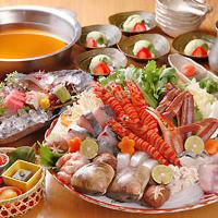 魚好きも!びっくりの多彩なラインナップ!魚屋の鍋宴会!