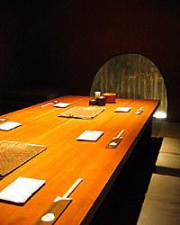 6~8名ご利用の掘り炬燵式テーブルの個室お座敷