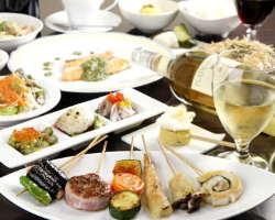 おすすめの【菫コース】 旬の食材を使った、前菜・串焼など♪
