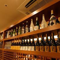 <豊富なドリンク>焼酎・日本酒・ワインなど。京都の地酒も充実