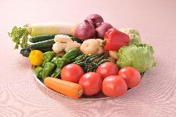 当店のメユーは野菜をふんだんに取り入れています!