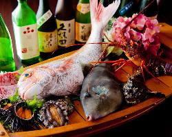 〈明石の昼網〉 活魚は甘み・食感ともに別格です